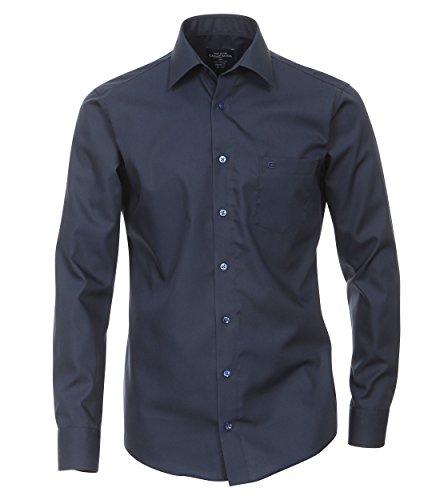 Michaelax-Fashion-Trade - Chemise business - Uni - Col Chemise Classique - Manches Longues - Homme Blau (109)