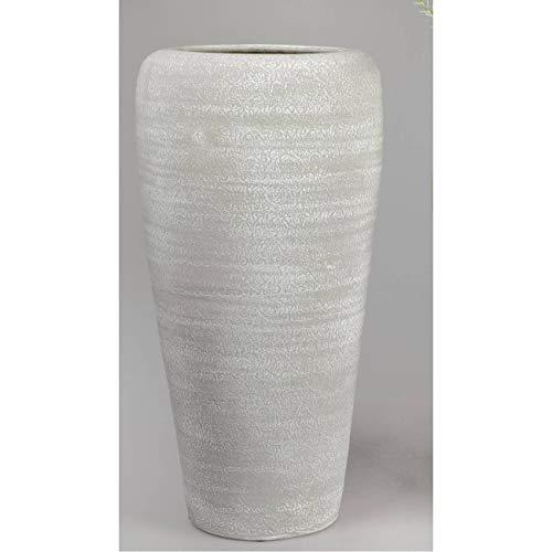 formano Deko Bodenvase Rustik H. 51cm grau weiß Keramik F19