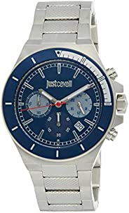 Just Cavalli Sport Blue Dial Stainless Steel Analog Watch For men JC1G139M0065