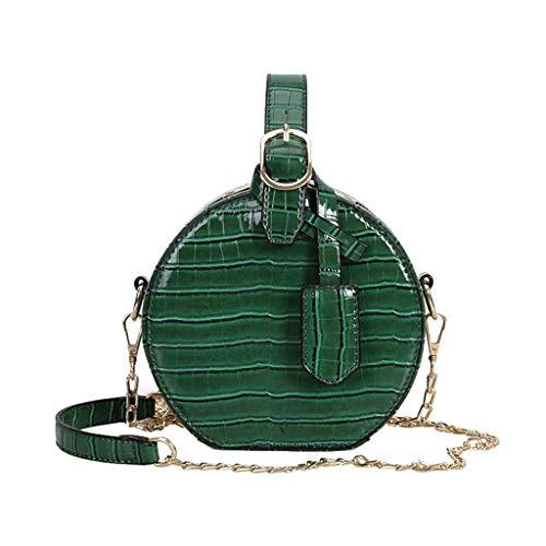 MA87 Damen Umhängetasche Kleine runde Tasche Fashion One-Shoulder Kleine quadratische Tasche (Grün)