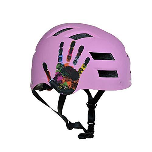GSBMQ Schutzkappen Cycling Knights Multifunktions-, Erwachsenen-Skateboardhelm Fahrrad-Reitausrüstung Helm Skating Rollschuh Schutzhelm Ausrüstung,-Purple-M