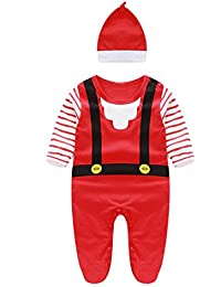 Ouneed® Noël Costume 1-2 ans Garcon Bebe Grenouillere