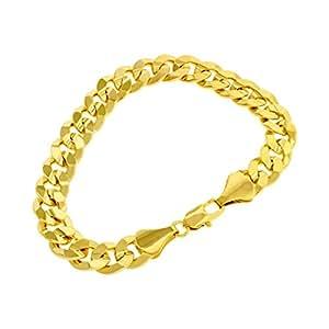 Carro armato braccialettino - in oro 24 K placcato oro - Bracciale da Donna - Uomo - Hip Hop Bling - 10 mm, -, cod. SKU: gb2a sans emballage