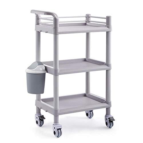 ALUK- Beauty Salon Trolley 3-Stufiger Behandlungswagen Multifunktionsgestell High-End Werkzeugwagen