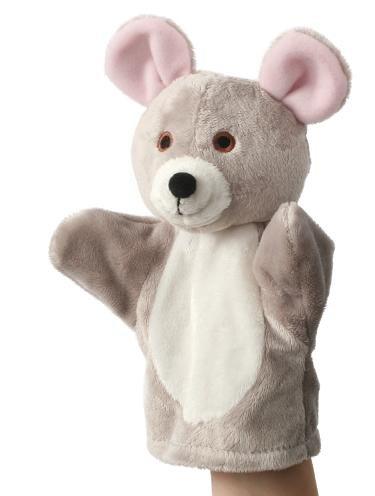 Unbekannt Handpuppe - Maus grau ...