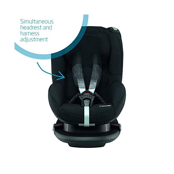 Maxi-Cosi Tobi Toddler Car Seat Group 1, Forward-Facing Reclining Car Seat, 9 Months-4 Years, 9-18 kg, Black Grid Maxi-Cosi Toddler car seat suitable for children from 9 to 18 kg (approximately 9 months to 4 years) Install theMaxi-Cosi Tobi car seatusing the car's seat belt and the integrated belt tensioner ensures a solid fit Spring-loaded, stay open harness to make buckling up your toddler easier as the harness stays out of the way 3