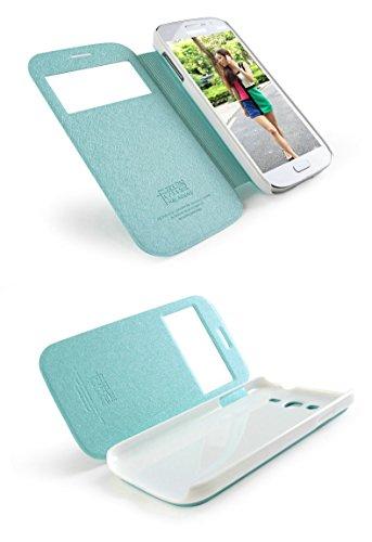 Kepuch KLD Eiskristalle Serie 2. Generation Ultra Slim Case Tasche Smart Cover Leder hülle Schutzhülle Hüllen Mit Window Für Samsung Galaxy Grand Neo i9060 / Neo Plus GT-I9060I / Duos i9082 i9080 GT-I9082 - Himmel-blau (Samsung Galaxy Grand 2 Duos Case)
