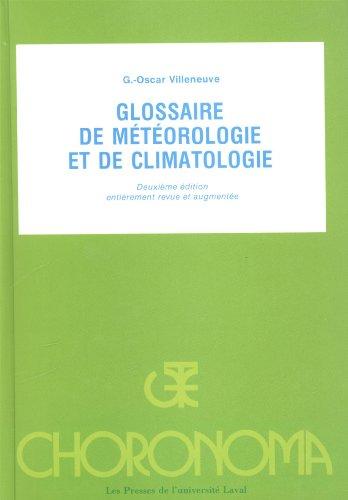 Glossaire de Meteorologie et de Climatologie par Villeneuve G O