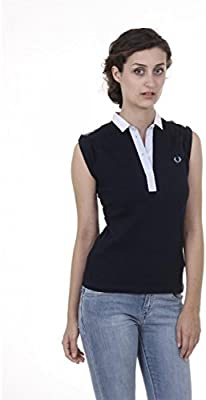 Fred Perry Fred Perry Womens Polo 31162247 0031 DARK BLUE