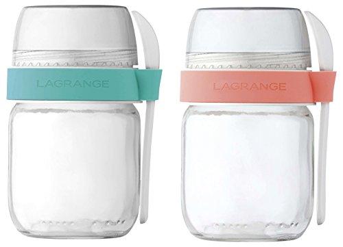 LAGRANGE 4404022POTS voneinander - Glas Joghurt-gläser