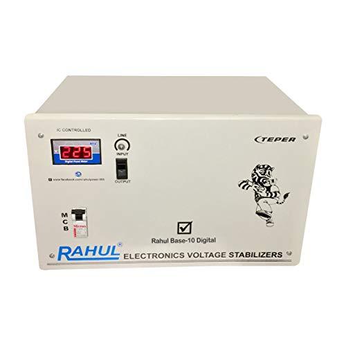 Rahul Base-10 A10 Digital Automatic Voltage Stabilizer (Grey)
