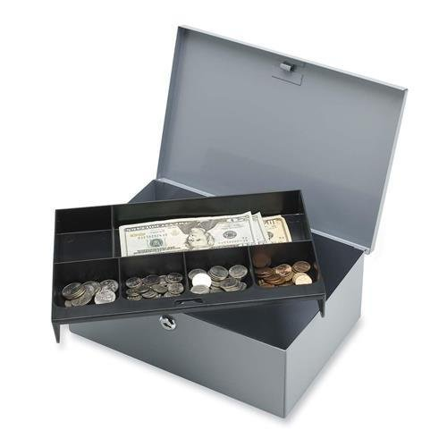 sparco-all-steel-6-compartment-tray-cash-box-spr15503-by-sparco