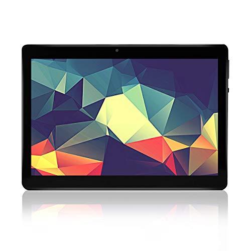 """tablet offerte speciali Tablet Android 7.0 Schermo Processore quad-core da 10"""" RAM 4 GB Fotocamera WIFI GPS Due slot per schede SIM Tablet Cellulare con 3G sbloccato (Nero)"""