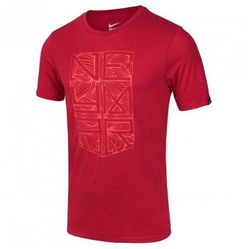 NIKE Herren Kurzärmeliges Fußball T-shirt Mit Grafik Neymar Logo Tee, Universität rot/weiß, M, 742504-657 (Baumwolle-logo-leibchen)