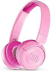 JBL JR300BT Kinder-Kopfhörer - Kabellose Bluetooth On-Ear Kopfhörer mit Lautstärkebegrenzung - Speziell entwickelt für Kinder Rosa