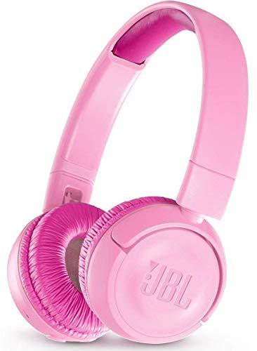 JBL JR300BT – Casque sans fil pour enfants – Connection Bluetooth – Avec plafonnement de volume sonore <85db – Solide et pliable – Jeu d'autocollants inclus – Rose
