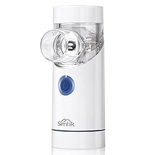 Inhalator Vernebler, SIMBR tragbarer geräuscharmer Vernebler mit Mundstück und Maske für Baby und Erwachsene, wirksam für Atemwegserkrankungen