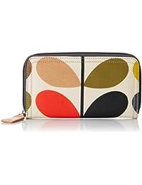 Orla Kiely Etc Classic Multi Stem Big Zip Wallet, Portefeuilles femme, (Multi), 19x10.5x2 cm (W x H L)