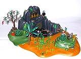 playmobil ® - 5134 - Abenteuer Schatzinsel mit viel Zubehör - reichlich Pflanzen - mit Elektronik Lampen und Batterien
