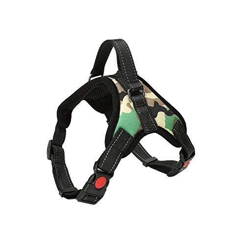 Hundegeschirr Verstellbar Pet Dog Vest Harness Welpengeschirr Weich Gepolstertes Brustgeschirr Weste MCGrün S