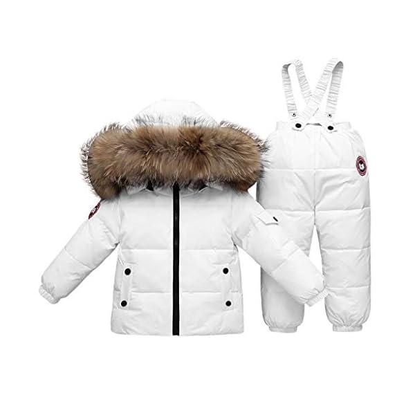 TYYM ski suit Traje De Bebé para La Nieve, Chaqueta con Capucha Monos De Una Pieza por 1-3 años Black-100cm 1