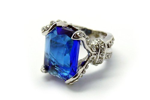 De-Cos Kuroshitsuji / Black Butler Cosplay Accessory Phantomhive Ciel Blue Gem Ring #13 (Ciel Cosplay Kostüm)