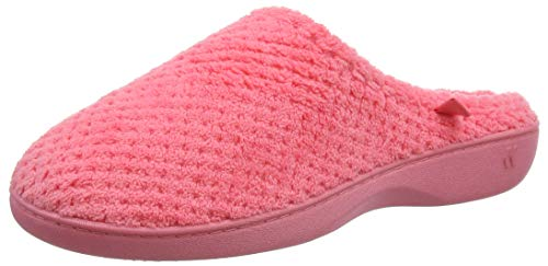 Isotoner Ladies Popcorn Terry Mule Slippers, Chaussons Femme, Orange (Coral Cor), 39 EU