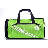 16e102e1ecff2 Godlife Leicht Polyester große Kapazität Sporttasche Sporttasche Reise  Weekender Seesack für Männer und Frauen (grün