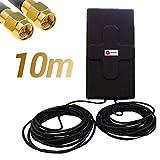 W WONECT Antenne 4G 50dbi LTE UMTS 3G Extérieur Câble SMA. Haute Puissance. Long Alcance. Extérieur Câble SMA mâle intégré 10m
