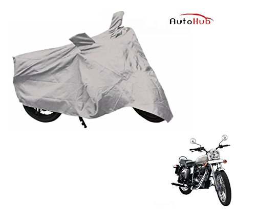 Auto Hub Premium Silver-Matty Bike Body Cover For Royal Enfield Bullet Electra  available at amazon for Rs.325