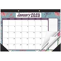 STOBOK Calendrier de bureau 2020 petit calendrier de bureau calendrier de bureau calendrier de bureau permanent calendrier de bureau permanent//blanc