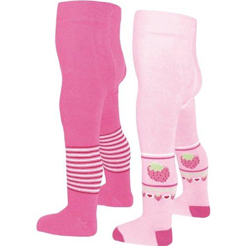 Baby Butt Strumpfhose 2er-Pack pink Größe 74 / 80