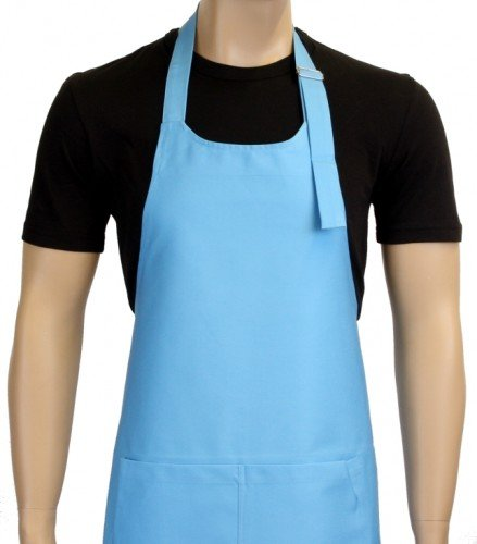Grillschürze UNI in vielen Farben ! - Grillen - BBQ GRILL SCHÜRZE GRILLSPORT Kochschürze Hellblau