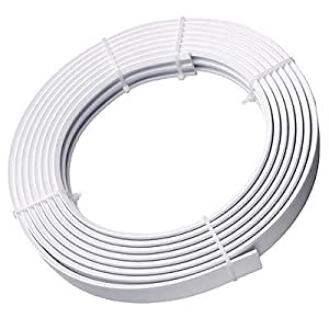 Speedy Streamline Coiled Curtain Track Set White 500 Cm
