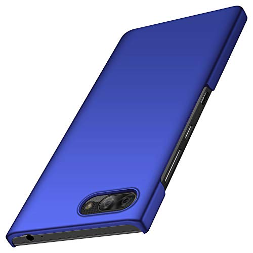 anccer BlackBerry Key2 LE Hülle, [Serie Matte] Elastische Schockabsorption und Ultra Thin Design für BlackBerry Key2 LE (Glattes Blau)