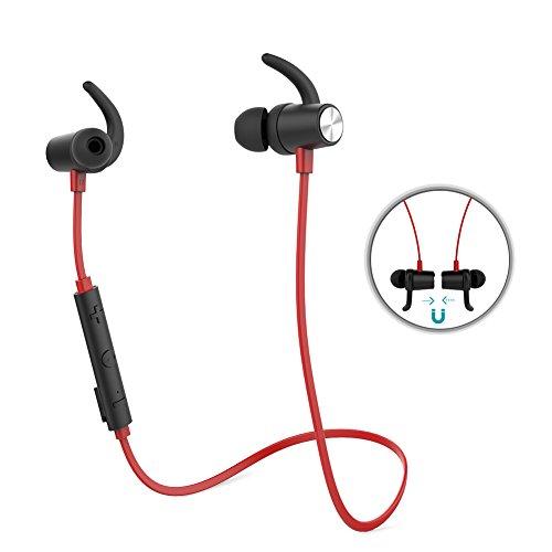 dodocool Intra-auriculaires à l'oreille écouteur Bluetooth Magnétiques Sportif Stéréo sans fil avec HD Mic CVC 6.0
