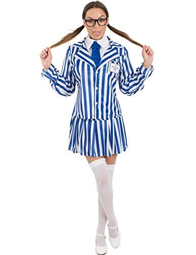 Damen Preiswerte Wert Basic Schule Mädchen Karneval Verkleidung Kostüm Extra Large (Geek Kostüm Für Mädchen)