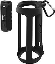 Silicone Case Compatible for JBL FLIP 5 Waterproof Portable Bluetooth Speaker, Gel Soft Skin Cover, Waterproof