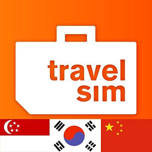 TravelSim Welt Prepaid Sim Karte für China, Südkorea und Singapur (SMS/Telefonieren & Daten) mit 15 € Startguthaben (1 MB - 0.015 EUR, Ohne Internet-Zensur, 4G/3G) (1mb-karte)