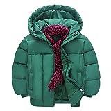 Riou Mantel Baby Kleidung Winter Warme Jacke Kapuzenjacke Kinderjacke Wintermantel Daunenjacke Weihnachten Kinder Baby Mädchen Jungen Winter Dicke Warme Hoodie Daunenjacke (110, Grün)