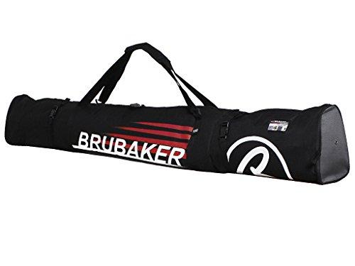 BRUBAKER Carver Champion Skitasche für 1 Paar Ski und Stöcke 190 cm Schwarz Rot