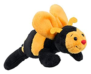 Schaffer 3546 - Abeja de Peluche magnética (12 cm), Color Amarillo y Negro
