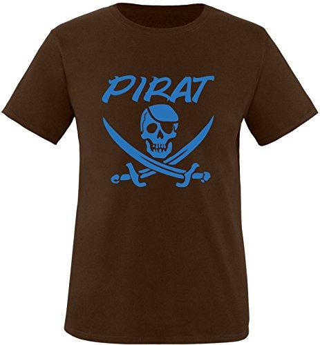 EZYshirt® Pirat Herren Rundhals T-Shirt Braun/Blau