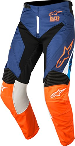 Alpinestars Racer Supermatic 2018 Motocross Hose 30 Blau/Orange -