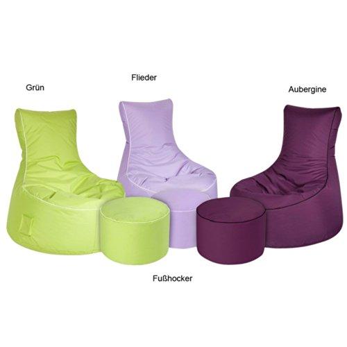 Sitzsack mit Lehne Outdoor geeignet YOU Farbe Lila Farbe Mit extra Fußhocker Ja Pharao24