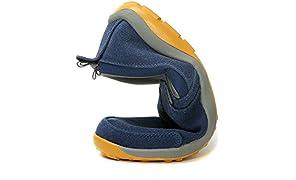 TFO Herren Wanderhalbschuh Faltbar Schuhe Rutschfest Fahrschuhe Atmungsaktiv Halbschuh Leicht Slipper Mokassin, Dunkelblau, 41 EU