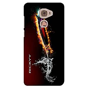 RICKYY Light Fish design printed matte finish back case cover for LeEco Le Pro 3