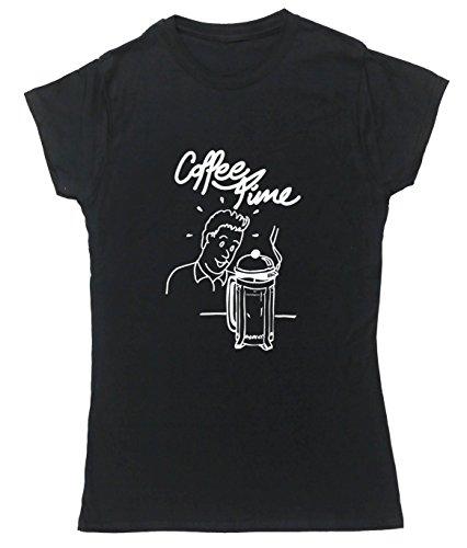 HippoWarehouse Damen T-Shirt Schwarz - Schwarz