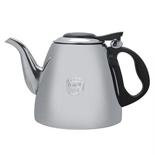 Fdit 1.2L / 1.5L Herd-Teekanne-Edelstahl-Tee-Kaffee-Topf-Kessel mit hitzebeständigem Griff(1.5L) -