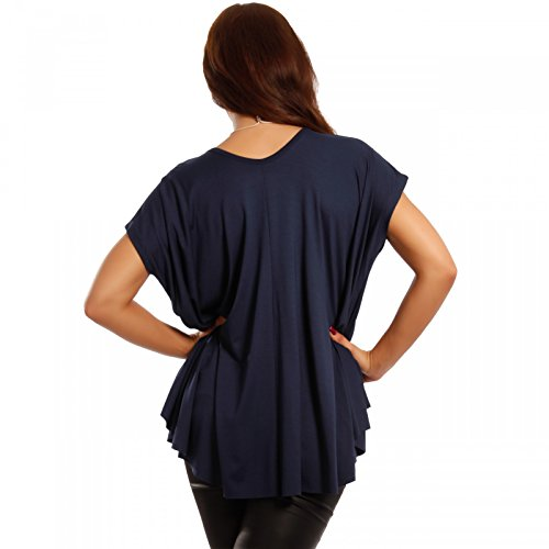 Damen Shirt in lässiger Oversize-Form mit KetteTopmodischen Ponchostyle One Size ( 34/36/38/40/42) Marine